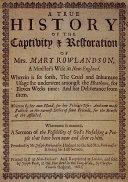 Narrative of the Captivity   Restoration of Mrs  Mary Rowlandson