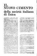 Il Nuovo cimento della Societa italiana di fisica. A.