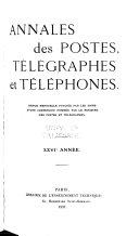 Annales des postes, télégraphes et téléphones