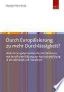 Durch Europäisierung zu mehr Durchlässigkeit?