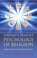 download ebook toward a positive psychology of religion pdf epub