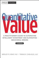 download ebook quantitative value pdf epub