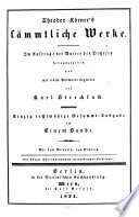 Theodor Körner's sämmtliche Werke