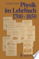 Physik im Lehrbuch 1700–1850