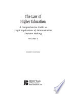 The Law Of Higher Education 2 Volumes
