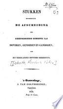 Stukken betrekkelijk de afscheiding der gereformeerde gemeente van Doveren, Genderen en Gansoijen, ven het Nederlandsch Hervormd Kerkbestuur