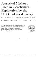Analytical Methods Used in Geochemical Exploration by the U S  Geological Survey