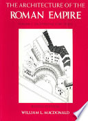 The Architecture of the Roman Empire: An introductory study
