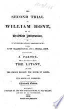 The Second Trial of William Hone     Thirteenth Edition