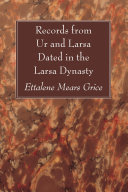 Records from Ur and Larsa Dated in the Larsa Dynasty Book