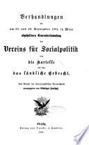 Schriften des Vereins für Socialpolitik