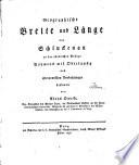 Geographische Breite und Länge von Schluckenau an der nördlichen Gränze Böhmens mit Oberlausitz