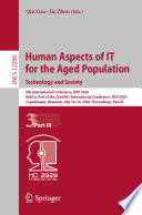 Human Aspects Of It For The Aged Population Technology And Society