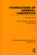 Foundations of General Linguistics