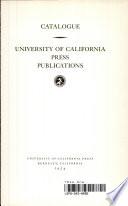 University of California Press Publications