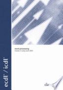 Ecdl Icdl Syllabus 4 Module 3 Word Processing Using Word 2003