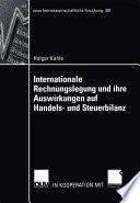 Internationale Rechnungslegung und ihre Auswirkungen auf Handels- und Steuerbilanz