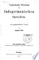 Vergleichendes Worterbuch der Indogermanischen Sprachen ein sprachgeschichtlicher Versuch