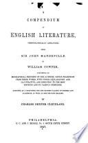 A Compendium Of English Literature