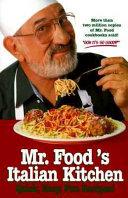 Book Mr  Food s Italian Kitchen