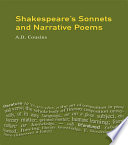 Shakespeare s Sonnets and Narrative Poems