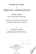 Macmillan s Course of French Composition
