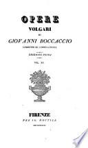 Opere volgari  corretti su i testi a penna  ed  by I  Moutier
