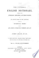 The Universal English Dictionary