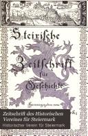 Zeitschrift des Historischen Vereines für Steiermark