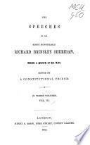 The Speeches of the Right Honourable Richard Brinsley Sheridan