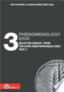 Phenomenology 2005. Volume 3: Selected Essays from Euro-Mediterranean Area, part 2