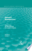 Demand Management  Routledge Revivals