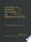 Test Methods for Vertebrate Pest Control and Management Materials