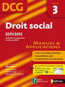 Droit social   DCG     preuve 3   Manuel et applications