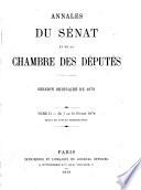 Annales du S  nat et de la Chambre des D  put  s  1876 1880