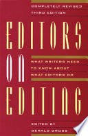 Editors On Editing book