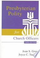 Presbyterian Polity for Church Officers