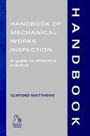 Handbook of Mechanical Works Inspection