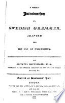 A Short Introduction to Swedish Grammar