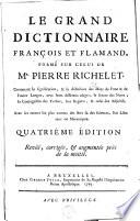 Le grand dictionnaire fran  ois et flamand