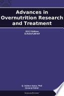 Advances in Overnutrition Research and Treatment: 2013 Edition