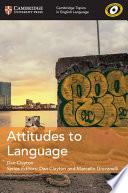 Attitudes to Language