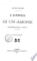 L autopsia di un amore studio dal vero Achille Bizzoni