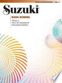 Suzuki Bass School Vol 3 Piano Acc