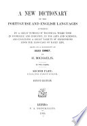 A New Dictionary of the Portuguese and English Languages  Inglez portuguez