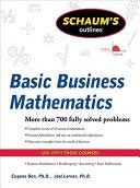 Schaum s Outline of Basic Business Mathematics  2ed
