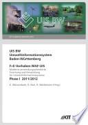 Uis Bw Umweltinformationssystem Baden W Rttemberg F E Vorhaben Maf Uis Moderne Anwendungsorientierte Forschung Und Entwicklung F R Umweltinformationssysteme Phase I 2011 12 Kit Scientific Reports 7616