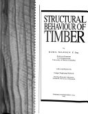 Structural behaviour of timber
