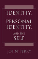 download ebook identity, personal identity and the self pdf epub