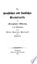 Ueber Sprache und Volksthümlichkeit im Herzogthum Schleswig